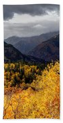 Stormy Fall Along The Alpine Loop - Utah Beach Towel