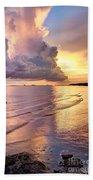 Stormy Glow Beach Towel