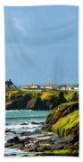 Stormy Lighthouse Beach Towel