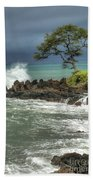 Stormy Maui Morning Beach Towel