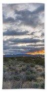 Stormy Santa Fe Mountains Sunrise - Santa Fe New Mexico Beach Towel