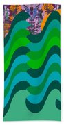 Stormy Sea Beach Towel