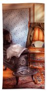 Stove - The Stove And The Chair  Beach Towel by Mike Savad