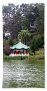 Stow Lake Chinese Pavilion Beach Towel