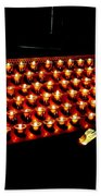 St.patricks Cathedral Candles Beach Towel