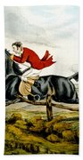 Straight Through The Fence From Qualified Horses And Unqualified Riders Beach Towel