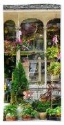 Strasburg Flower Shop Beach Towel