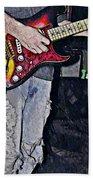 Strat Man  Beach Towel by Chris Berry