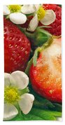 Strawberries And Vanilla Beach Towel