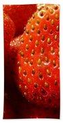 Strawberries Background Beach Towel
