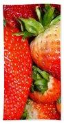 Strawberries Beach Towel