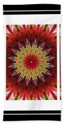 Strawberry Explosion Triptych - Kaleidoscope Beach Towel