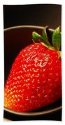Strawberry In Nested Bowls Beach Towel