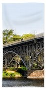 Strawberry Mansion Bridge And The Schuylkill River Beach Towel