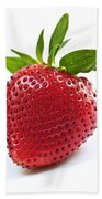 Strawberry On White Background Beach Towel