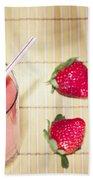 Strawberry Smoothie Beach Towel