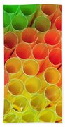 Straws In Color Beach Towel