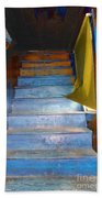 Stray Breeze On The Stairs Beach Towel