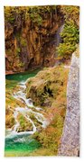 Stream In The Mountains Beach Towel