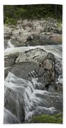 Stream With Waterfall In Vermont Beach Towel