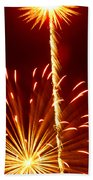 Streaming Fireworks Beach Towel