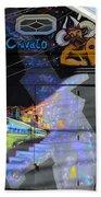 Street Art Valparaiso Chile 5 Beach Sheet