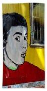 Street Art Valparaiso Chile 7 Beach Towel