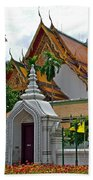 Street Entry To Wat Po In Bangkok-thailand Beach Towel