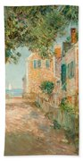 Street In Provincetown Beach Towel by  Childe Hassam