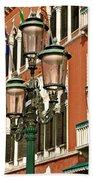 Street Lamps Of Venice Beach Towel
