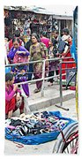 Street Market View From A Rickshaw In Kathmandu Durbar Square-nepal Beach Towel