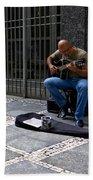 Street Musician - Sao Paulo Beach Towel