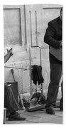 Street Musicians In Avignon Beach Towel