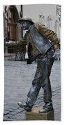 Street Performer In Munich Beach Towel