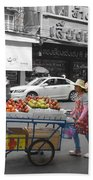 Street Seller Beach Towel
