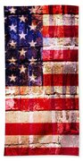 Street Star Spangled Banner Beach Towel by Delphimages Photo Creations