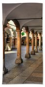 Street With Arches And Columns Beach Towel