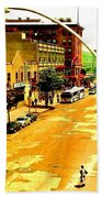 Streets Of Gold Beach Towel