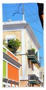 Streets Of Old San Juan Beach Towel