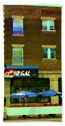 Streets Of Pointe St Charles Centre And Charlevoix Summer La Chic Regal Pub Scenes Carole Spandau Beach Towel