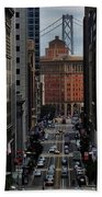 Streets Of San Fran Beach Towel by Benjamin Yeager