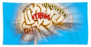 Stress Beach Towel