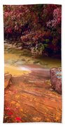 Striated Creek Beach Towel