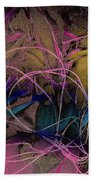 String And Fabric Beach Towel