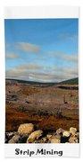 Strip Mining - Environment - Panorama - Labrador Beach Towel