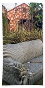 Striped Couch II Beach Towel