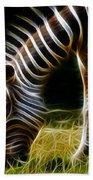 Striped Fractal Beach Towel