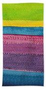 Stripes Original Painting Beach Towel