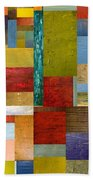 Strips And Pieces Lll Beach Towel by Michelle Calkins