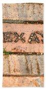 Stroll Down Texas Lane Beach Towel